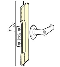 Commercial Door Stainless Security Latch Guard Plate, Don Jo CLP 110 630