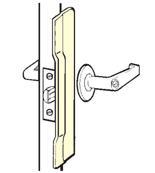 Commercial Door Stainless Security Latch Guard Plate Don