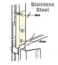 Storefront Door Stainless Steel Latch Guard, Don-Jo LP-307-630