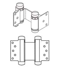 Double Acting Spring Hinges