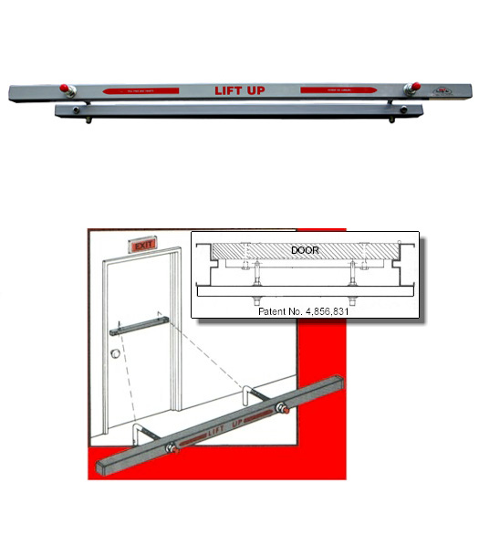 Exit Security Bars 36-inch Outswing Door