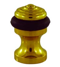 Ridged Dome Pedestal Floor Door Stop, Field Enterprises FEI-DS-58