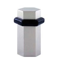 Modern 2 Inch Hexagonal Floor Mount Door Stop, FEI-H-195
