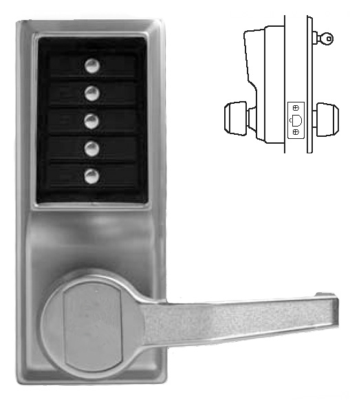 Simplex Keypad Entry Lever Lock Kaba L1011 Doorware Com