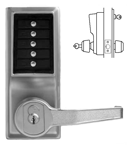 Superb Simplex Keypad Entry Lever Lock With Key Override, KABA L1021