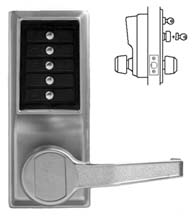 Simplex Keypad Entry Lever Lock with Passage Feature, KABA L1031