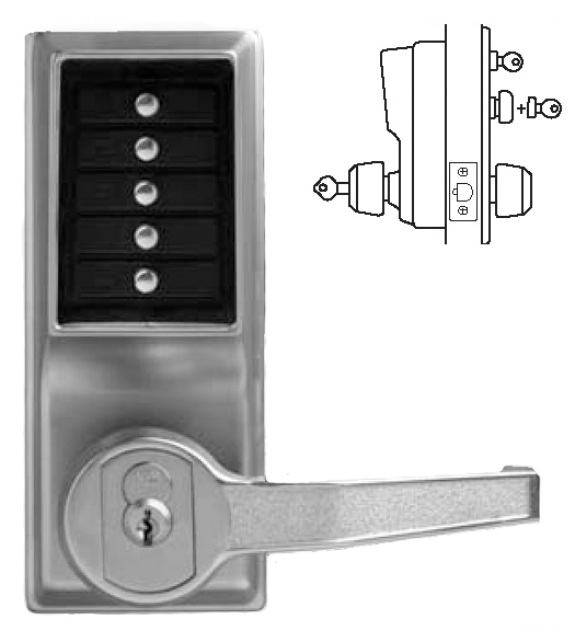 Simplex Keypad Entry Lever Lock With Passage Feature And