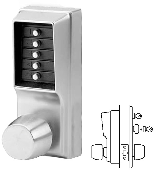 Keypad Entry Lock with Passage Feature