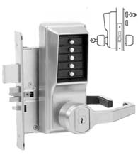 Simplex Keypad Mortise Lever Lock with Deadbolt and Key Override, KABA 8148S26D