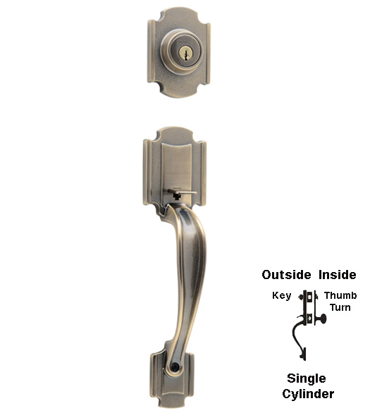 Kwikset Farmington Single Cylinder Handleset Doorware Com