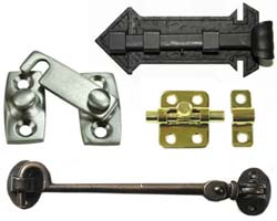 Door Hooks, Bolts, Latches, and Locks