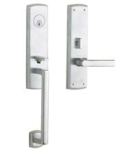 Soho Single Point Lock Mortise Handleset, Baldwin M516