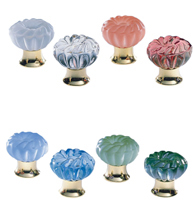romantic colored glass cabinet knob omnia