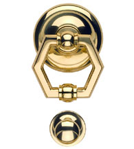 Solid Brass Sierra Villa Door Knocker, Omnia 79