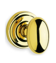 Oval Solid Brass Door Knob With  2-7/8 Inch Projection, Omnia 432/00