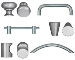 Omnia Stainless Steel Cabinet Hardware