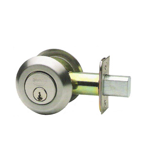 Low Profile Max Steel Single Cylinder Deadbolt, Omnia D0806LA-MS ...