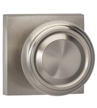 Stylish Round Knob Square Rose Knobset, Omnia 565SQ