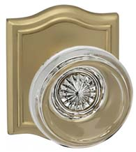 Contemporary Glass Knob With Arched Rose, Omnia 566AR