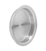 Contemporary Round Stainless Steel Cup Pull, Omnia 7503