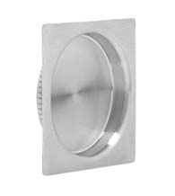 Contemporary Square Stainless Steel Cup Pull, Omnia 7504