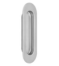 Contemporary Oval Stainless Steel Cup Pull, Omnia 7505