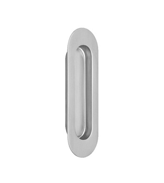 Contemporary Oval Stainless Steel Cup Pull Omnia 7505