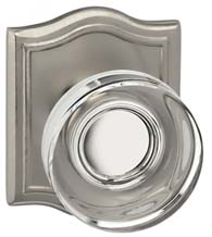 Contemporary Clear Knob with Arched Plate, Omnia 936AR