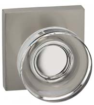Clear Door Knob with Square Plate, Omnia 936SQ