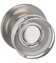 Contemporary Clear Knob with Traditional Plate, Omnia 936TD