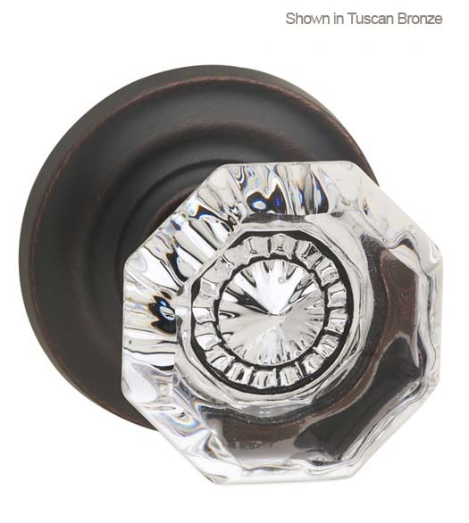 Clear Glass Knob With Stepped Rose