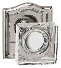 Decorative Arched Plate with Square Glass Knobs, Omnia 956AR