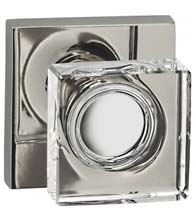Square Glass Door Knobset, Omnia 956SQ