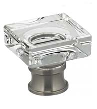 Square Glass Cabinet Knob, Omnia 9956/32
