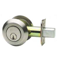 Low Profile Modern Double Cylinder Deadbolt, Omnia D0806LAC