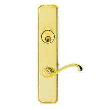 Classic Lever Entry Lockset, Omnia D11794