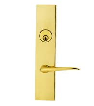 Contemporary Lever Entry Lockset, Omnia D12042