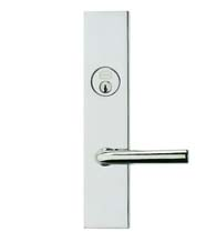 Contemporary Lever Entry Lockset, Omnia D12368