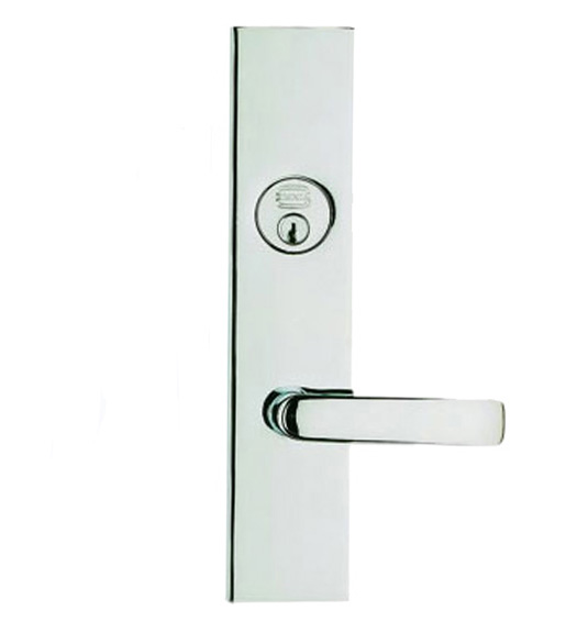 Modern Door Lever Entry Lockset, Omnia D12560
