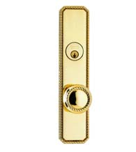 Victorian Rope Door Knob Entry Lockset, Omnia D24441
