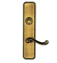 Rope Design with Classic Scroll Lever Entry Lockset, Omnia D24570
