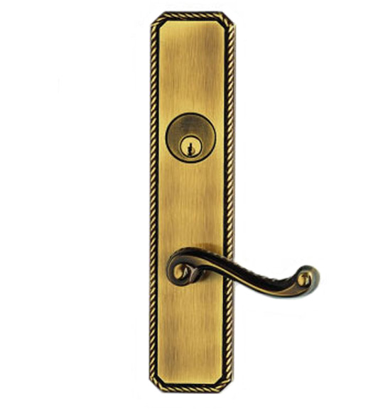 Rope Design With Classic Scroll Lever Entry Lockset Omnia D24570