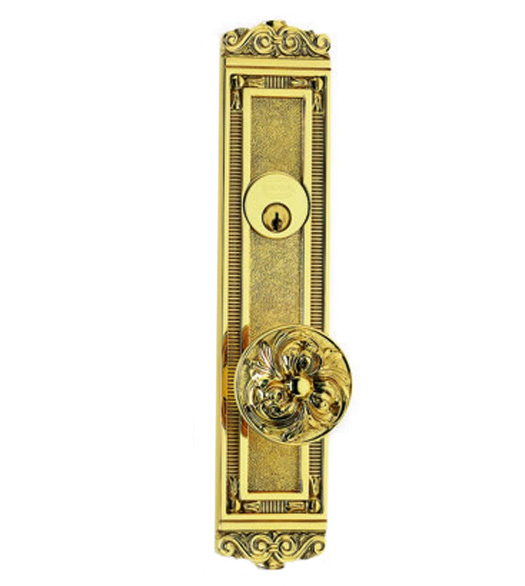Floral Door Knob Entry Door Lockset