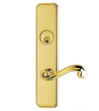 Classic Scroll Lever Entry Lockset, Omnia D11055