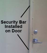 80 Inch Offset Security Bar, NGP 1392SP-80
