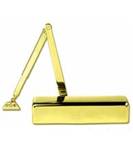 Polished Brass ADA Compliant Full Cover Grade 1 Tri Packed Door Closer, TC611-US3