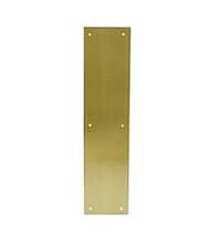 Push Plate 3.5 x 15 Inches Solid Brass, Deltana PP3515
