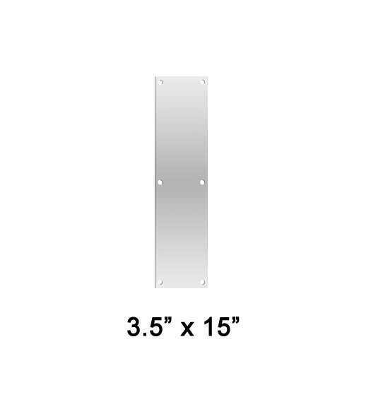 3.5 x 15 Stainless Steel Push Plate