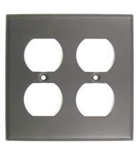 Double Electrical Outlet Plate Rusticware 786