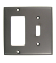 Double Rocker and Switch Plate Rusticware 788